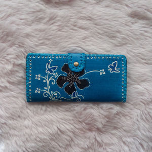 COPY - NEW Blue Floral Hawaiian Foldable Wallet
